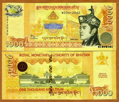Bhutan,  Kingdom, 1000 Ngultum, 2016, P-New, UNC > Commemorative
