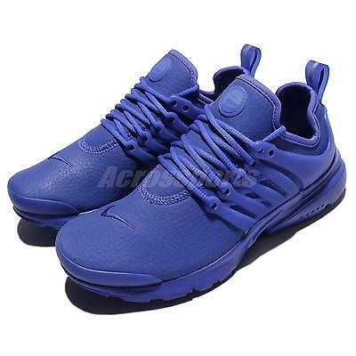 Wmns Nike Air Presto PRM Triple Paramount Blue Leather Women Shoe 878071-401