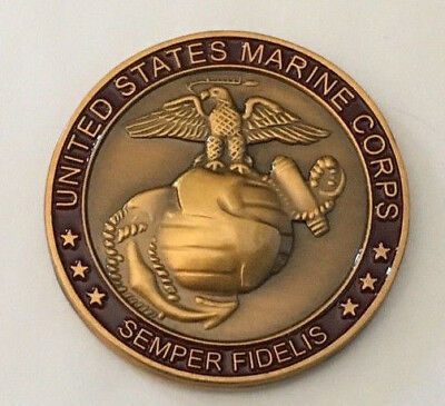 United States Marine Corps Challenge Coin .    H030805