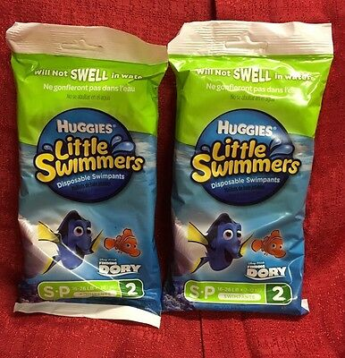 Finding Dory Huggies Little Swimmers Disposable Swim Diapers Small 16-26 Lbs