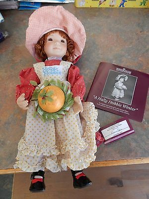 Ashton Drake/Dianna Effner Vintage Holly Hobbie Porcelain Doll Winter W/COA