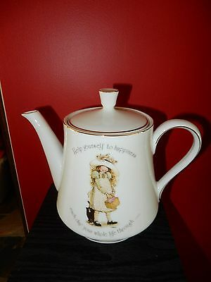 Vintage Holly Hobbie Tea Pot RARE *