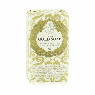 Nesti Dante 60 Anniversary Luxury Gold Soap With Gold Leaf (Limited 250g Bath