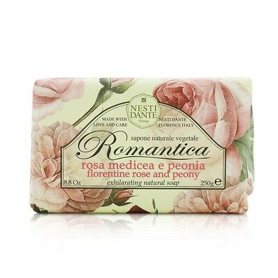 Nesti Dante Romantica Exhilarating Natural Soap - Florentine Rose & Peony 250g