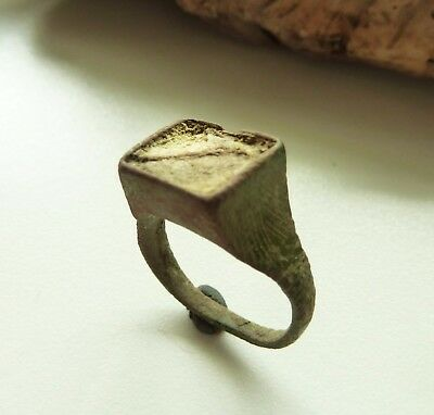 Medieval bronze ring with  insert (556).