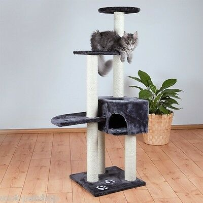 Cat Tree Scratch Post Alicante Grey 142cm For Cats & Kittens