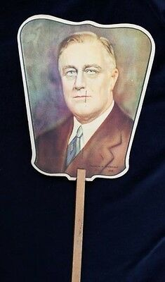 Old Advertising Premium Fan Haines Shoe Wizard York PA Franklin Roosevelt