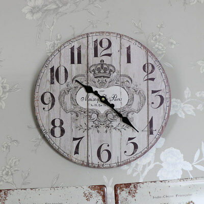 Ornate vintage French style wall clock shabby ornate chic living room gift