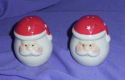 "Cute 'santa"" Head Salt And Pepper Shakers, Christmas Pepper & Salts (#bn72)"