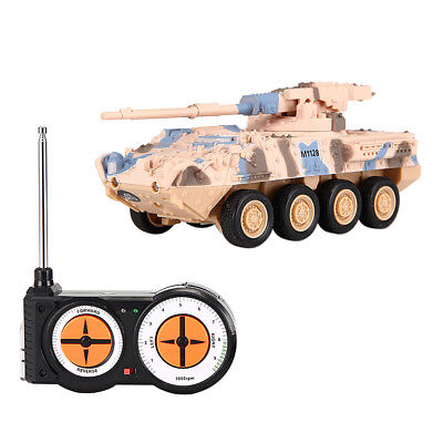 4 Channel Remote Control Battle Tank Toys RC Military Model Toy Gift 8021