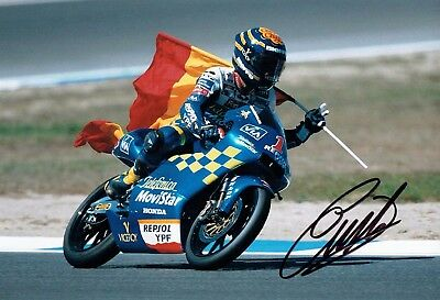 Emilio ALZAMORA SIGNED 12x8 Photo 4 AFTAL COA Former Grand Prix World Champion