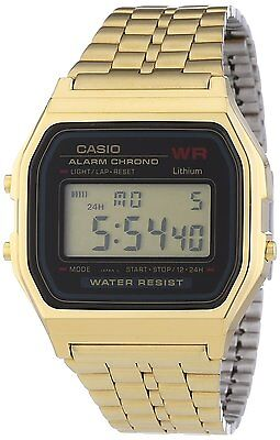 Casio A159WGEA-1 Mens Gold Tone Stainless Steel Digital Watch Vintage Retro NEW