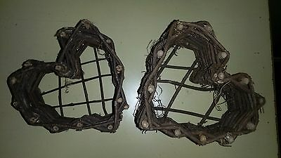 new GRAPEVINE heart shaped BASKET ** set of 2 ** CRAFT projects ~ DECOR