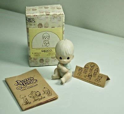 Precious Moments Baby Boy Vintage 1983 Mint In Box