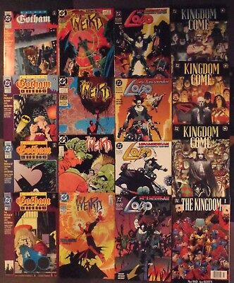 Kingdom Come, The Weird, Gotham Nights , Lobo..lot of 16 DC Comics