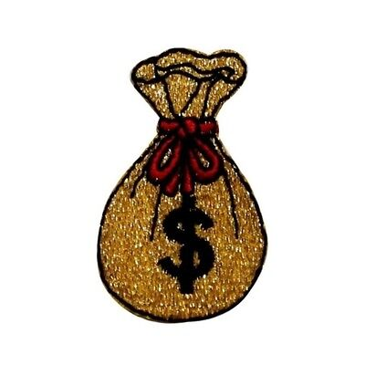 ID 0076C Bag of Money Patch Winning Pouch Embroidered Iron On Applique Patch
