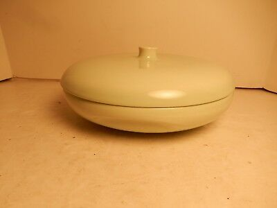 """Vintage Russel Wright Iroquois China Lettuce Green Covered Divided Casserole 10"""""""