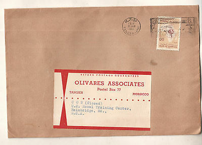 Morocco 1962 cover Tangier to US Naval Training Center Bainbridge MD