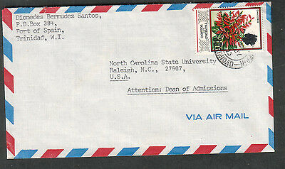 Trinidad 1973 cover Port Of Spain to Raleigh NC