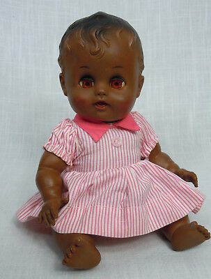So-Wee Sun Rubber Sunbabe African American Black Vintage Doll 1950's Ruth Newton