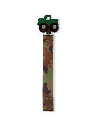 New Mud Pie Infant Boys Camouflage Truck Pacifier Holder Clip