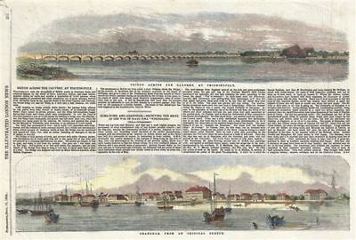 1854 Illustrated London News View of Bund, Shanghai, China