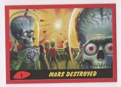2017 Mars Attacks Revenge complete RED base & pencil set 1-55 total 110 xx/99