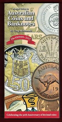 2017 Greg McDonald 23rd Ed. Pocket Guide to Australian Coins and Banknotes