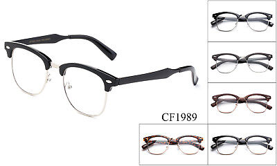 New Designer Retro Clear Lens Nerd Frames Glasses Mens Womens Eyewear Fashion