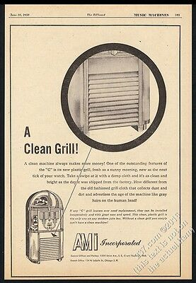 1950 AMi model C jukebox illustrated vintage trade print ad