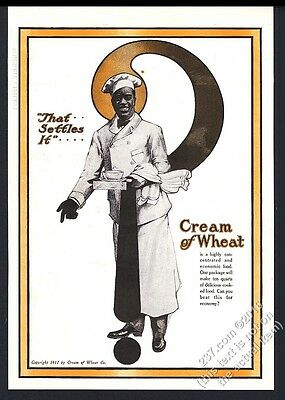 1918 Cream of Wheat cereal Rastus art That Settles It vintage print ad