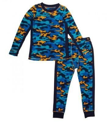 Cuddl Duds Warm Base Layer Toddler Boys 2T 3T Fleece Camouflage Thermal Set New