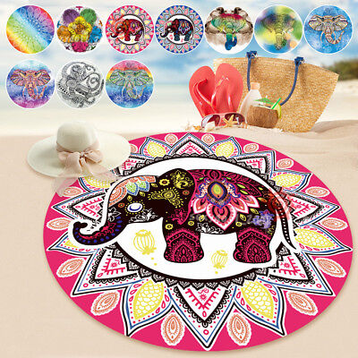 Hippie Round Beach & Pool Throw Towel Tapestry Blanket Bohemian Shawl Yoga Mat