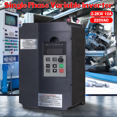 AU 2.2KW 3HP 220V 12A Single Phase Variable Frequency Inverter VSD VFD AUS Drive