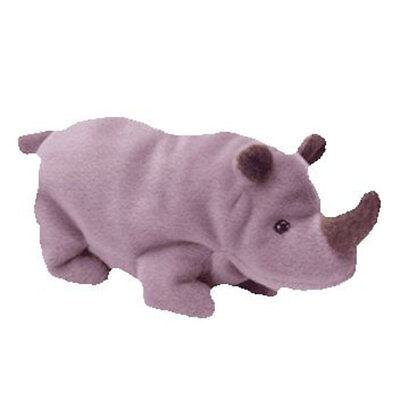 TY Beanie Baby - SPIKE the Rhino (7 inch) - MWMTs Stuffed Animal Toy