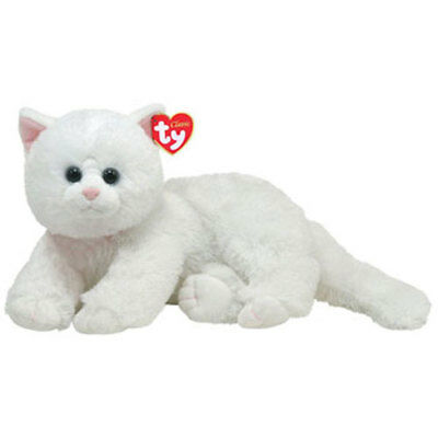 TY Classic Plush - CRYSTAL the White Cat (10.5 inch) - MWMTs Stuffed Animal Toy