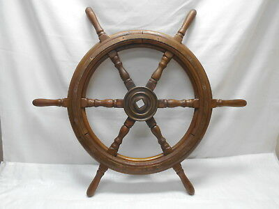Vintage Medium Ship's Wheel 75cm Wooden Japanese Nautical Maritime #80