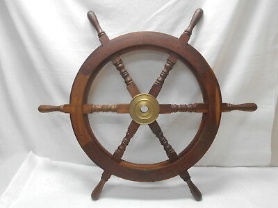 Vintage Medium Ship's Wheel 78cm Wooden Japanese Nautical Maritime #82