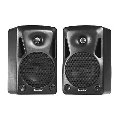 Superlux BES5A Pair of 5-Inch 2-Way 70Watt Active Studio Monitors - New