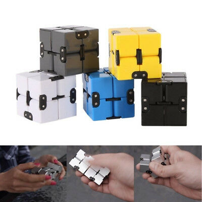 Mini For Stress Relief Fidget Anti Anxiety Stress Funny Luxury EDC Infinity Cube