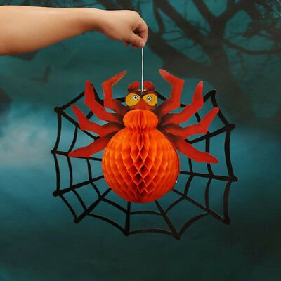 Halloween Party Pendant Web Spider Paper Hanging Ornaments Props Decoration