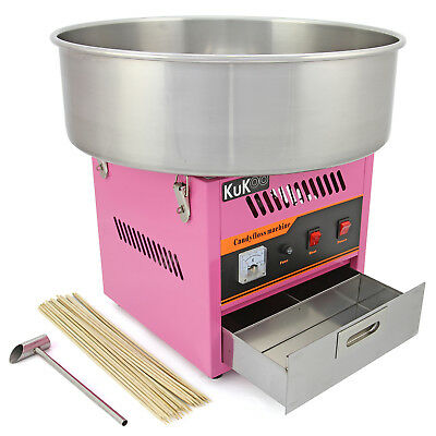 Candy Floss Making Machine Cotton Candy Maker Commercial Party Fair FREE Sticks
