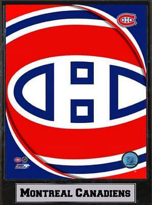 Montreal Canadiens Logo Wood Wall Picture 11 13/16In, PLAQUE NHL Ice Hockey,
