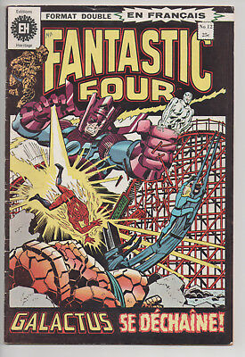 FANTASTIC FOUR #12 french comic français EDITIONS HERITAGE (1972)