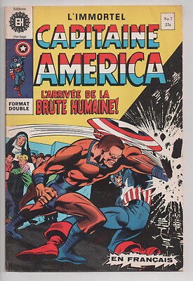 CAPTAIN AMERICA #7 french comic français EDITIONS HERITAGE (1971)