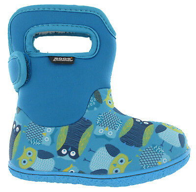 Bogs Wellingtons Boots Baby Owls Waterproof -10 Fur Lined Neo-Tech Kids UK 4-9
