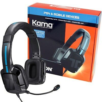 Tritton Kama Stereo Gaming Headset for PS4 / Pro / Smartphone / Wii U Black NEW