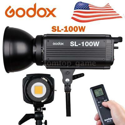 Godox SL-100W 6500LUX Studio Photo LED Continuous Video Light Bowens Mount #USA#