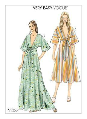Vogue Sewing Pattern Very Easy Vogue Misses' Kimono Dress Xsm - Xxl V9253