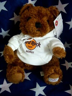 HRC Hard Rock Cafe Beirut Sweater Hoodie Bear 2008 LE Made by Herrington